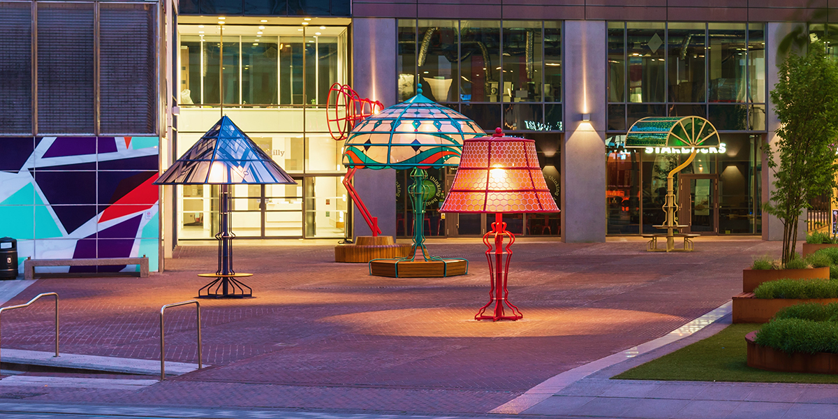 Piccadilly Place Table Lamps Art Installation