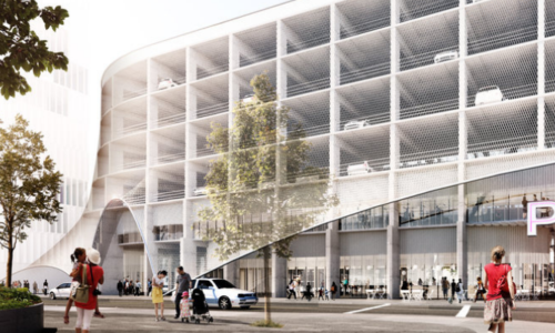 Rendering of 9th Avenue Parkade