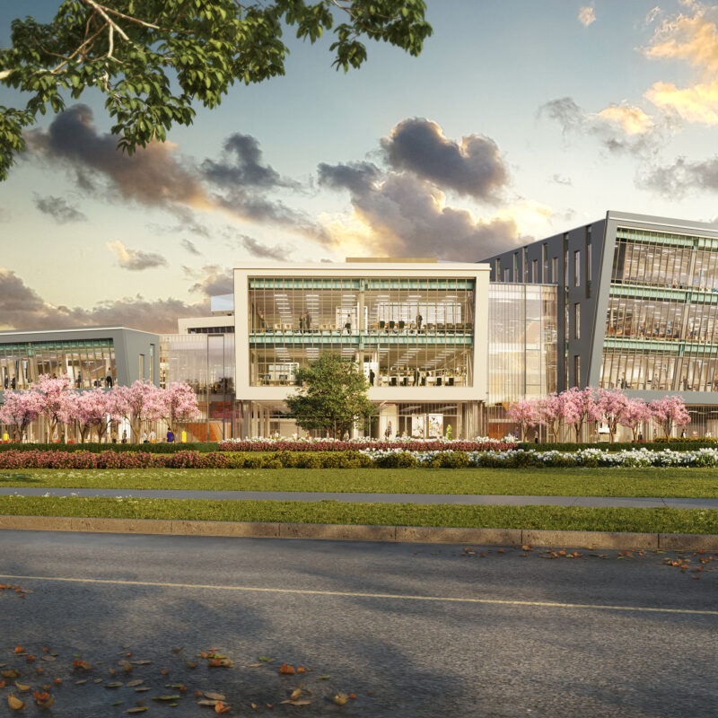 Rendering of Exterior of the AUPE Head Office