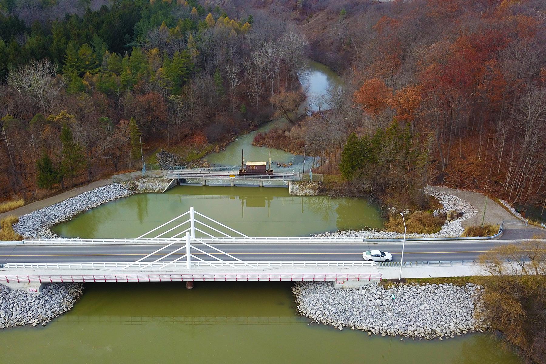 Dalewood Road Bridge Aerial View