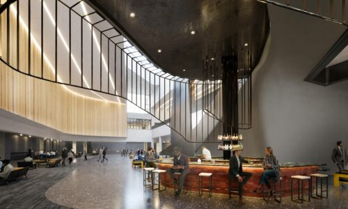 Interior Rendering of BMO Centre Bar