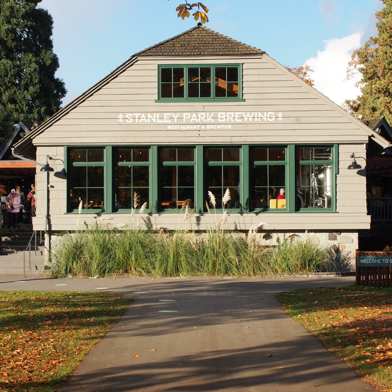 Exterior of Stanley Park Brewing Co in Vancouver