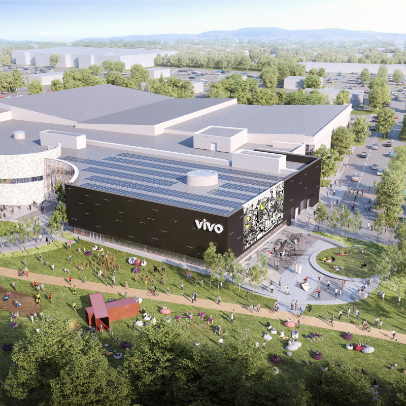 Rendering of Vivo Centre Exterior